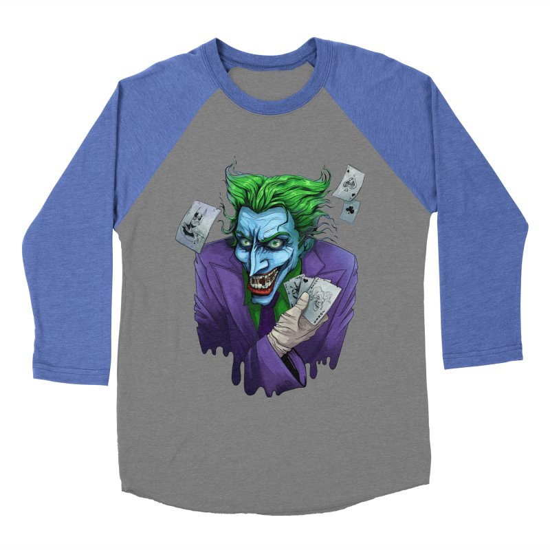 Joker Women's Baseball Triblend T-Shirt by Diana's Artist Shop