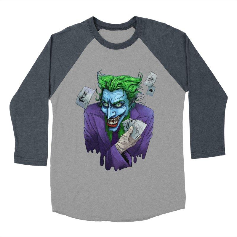 Joker Women's Baseball Triblend T-Shirt by Diana's Artist Shop