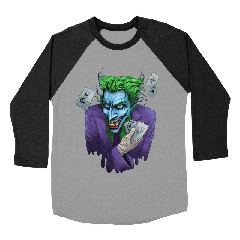 Joker Men's Baseball Triblend T-Shirt by Diana's Artist Shop