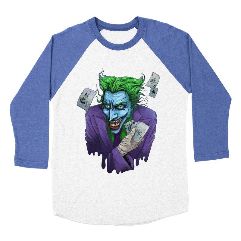 Joker Men's Baseball Triblend Longsleeve T-Shirt by Diana's Artist Shop