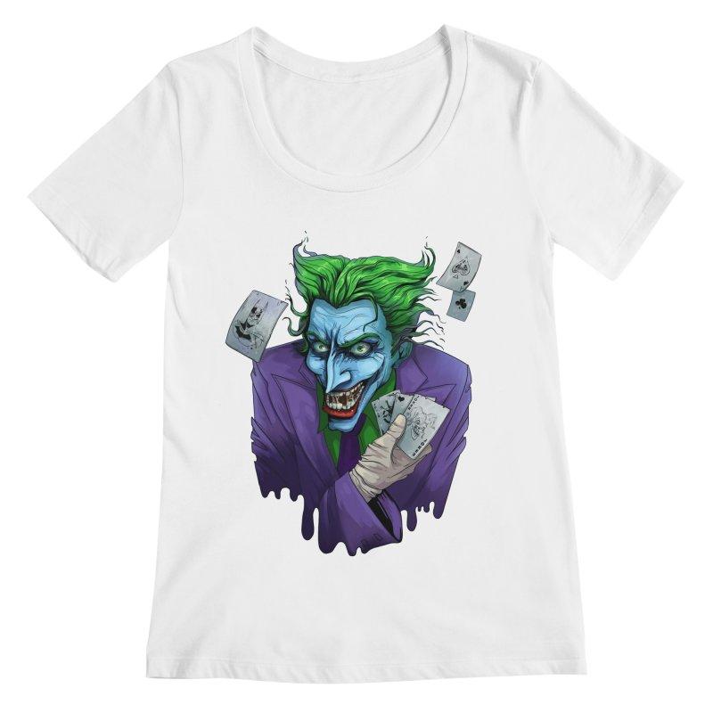 Joker Women's Regular Scoop Neck by Diana's Artist Shop