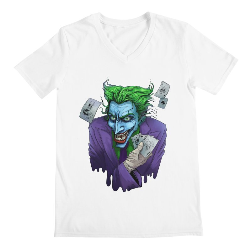 Joker Men's V-Neck by Diana's Artist Shop
