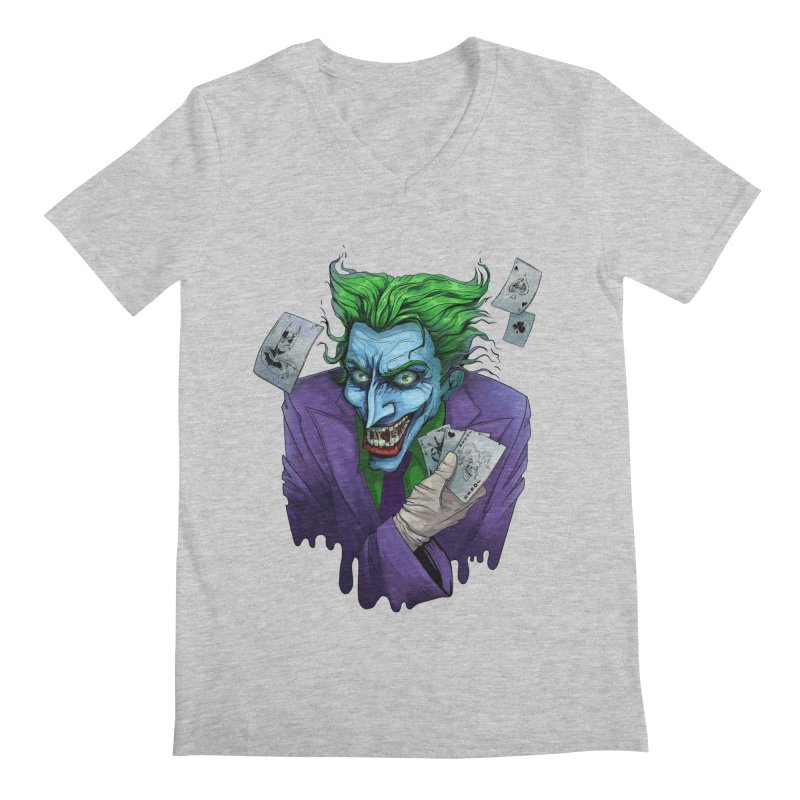 Joker Men's V-Neck by Diana's Artist Shop