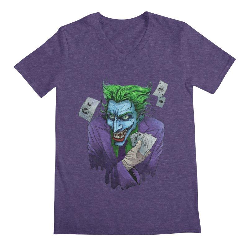 Joker Men's Regular V-Neck by Diana's Artist Shop