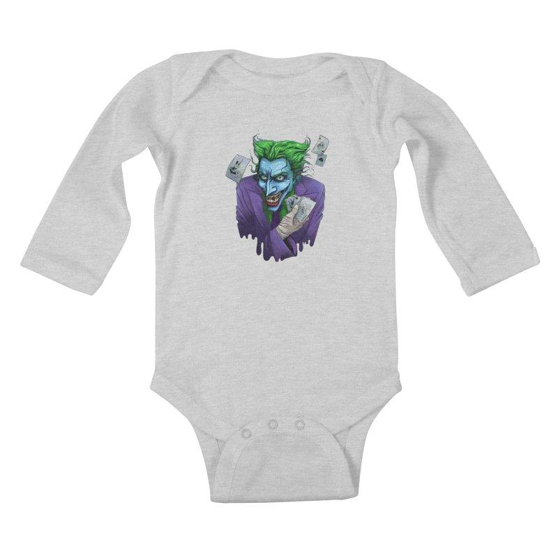 Joker Kids Baby Longsleeve Bodysuit by Diana's Artist Shop