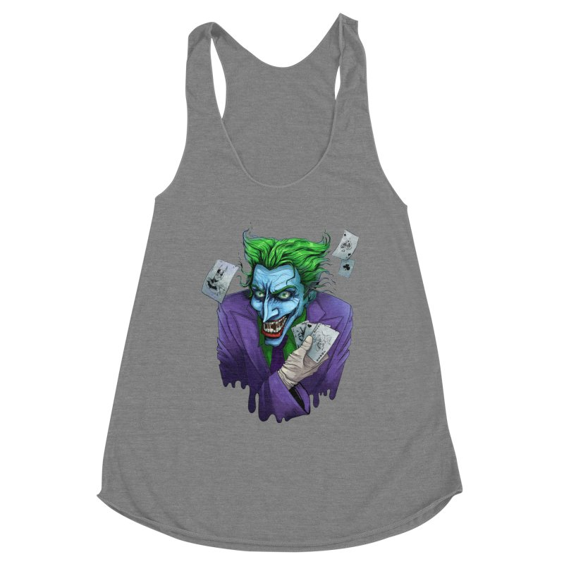 Joker Women's Racerback Triblend Tank by Diana's Artist Shop