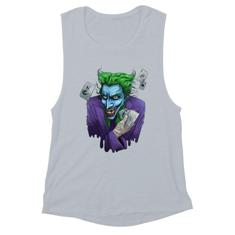Joker Women's Muscle Tank by Diana's Artist Shop