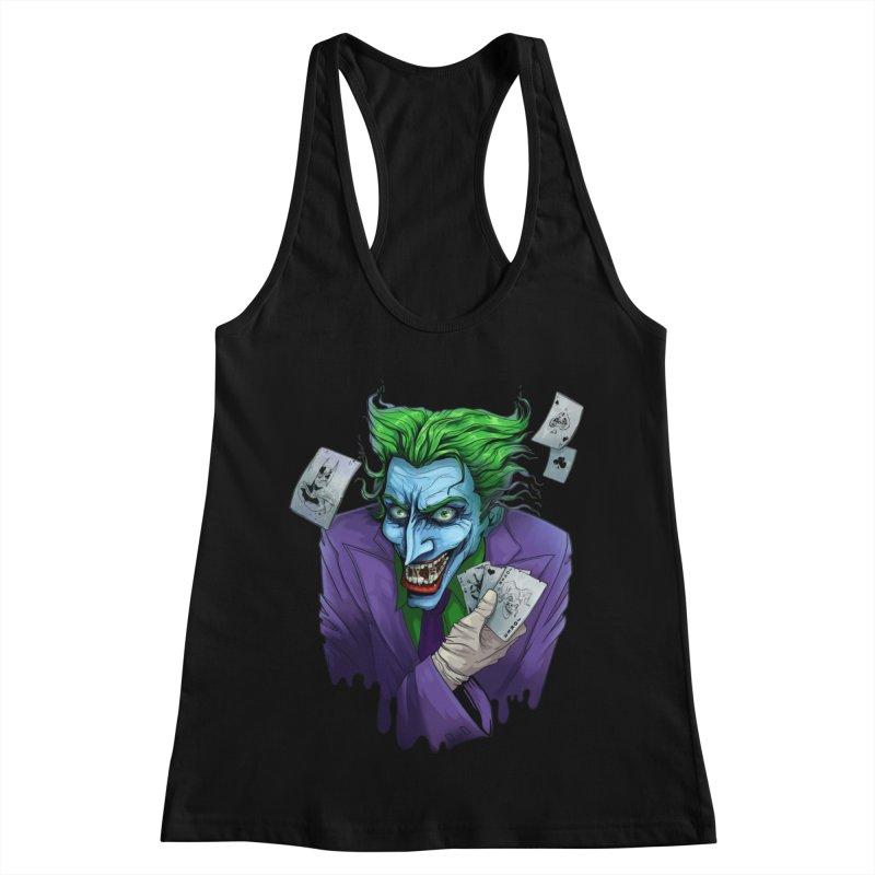 Joker Women's Racerback Tank by Diana's Artist Shop
