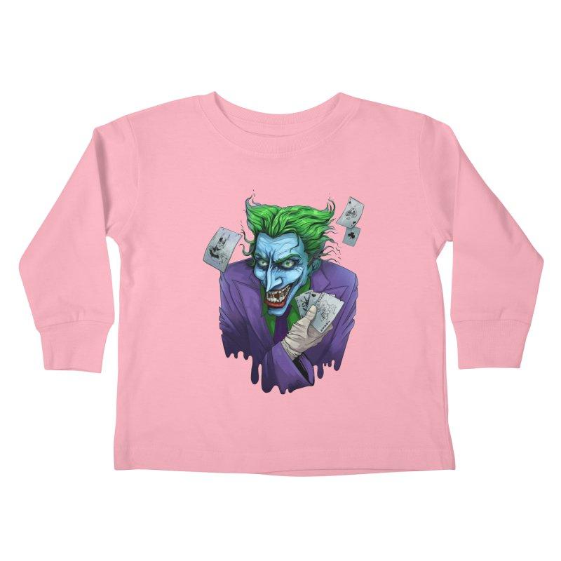Joker Kids Toddler Longsleeve T-Shirt by Diana's Artist Shop