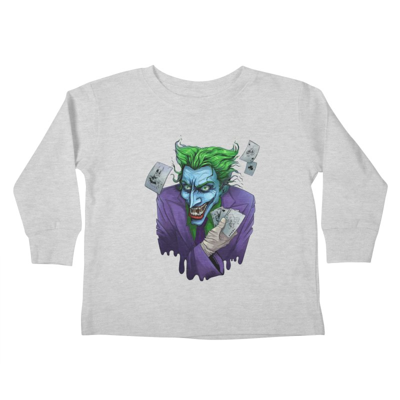 Joker Kids Toddler Longsleeve T-Shirt by Diana's Artist Shop