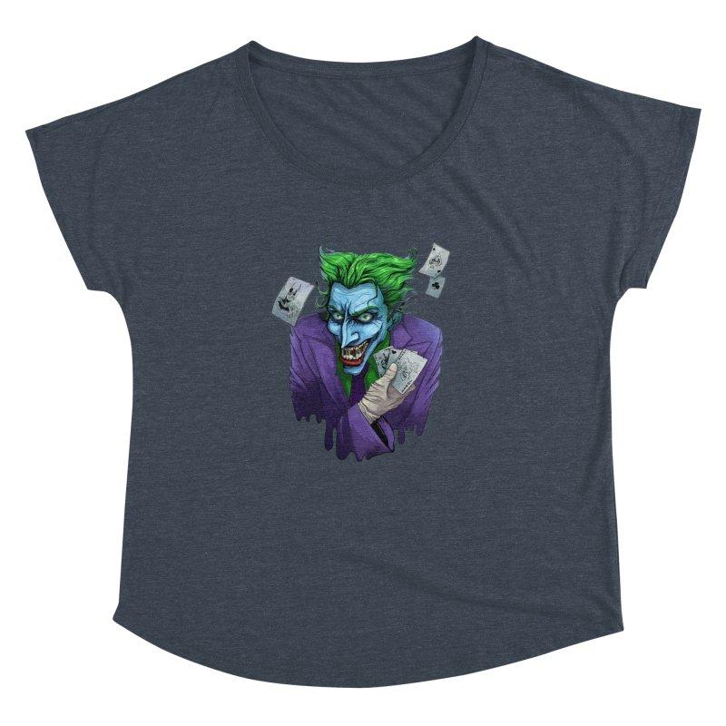 Joker Women's Dolman Scoop Neck by Diana's Artist Shop