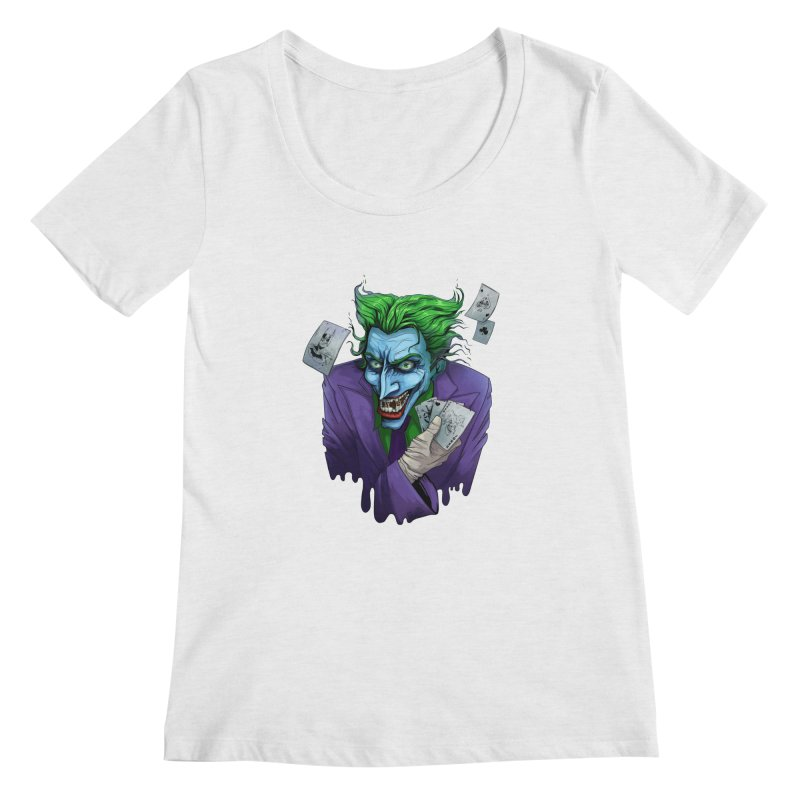 Joker Women's Regular Scoop Neck by Diana's Artist Shop