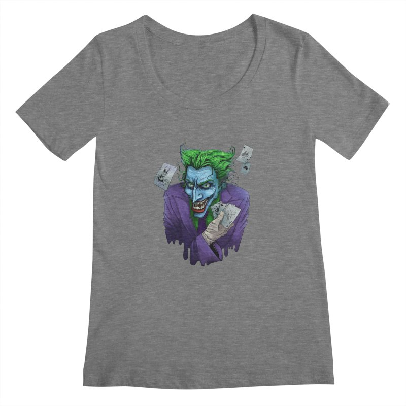 Joker Women's Scoopneck by Diana's Artist Shop