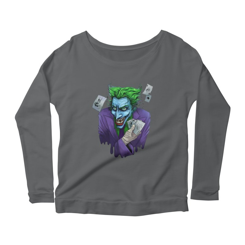 Joker Women's Scoop Neck Longsleeve T-Shirt by Diana's Artist Shop