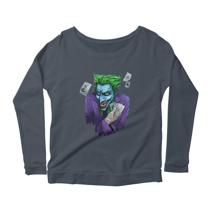 Joker Women's Longsleeve Scoopneck  by Diana's Artist Shop