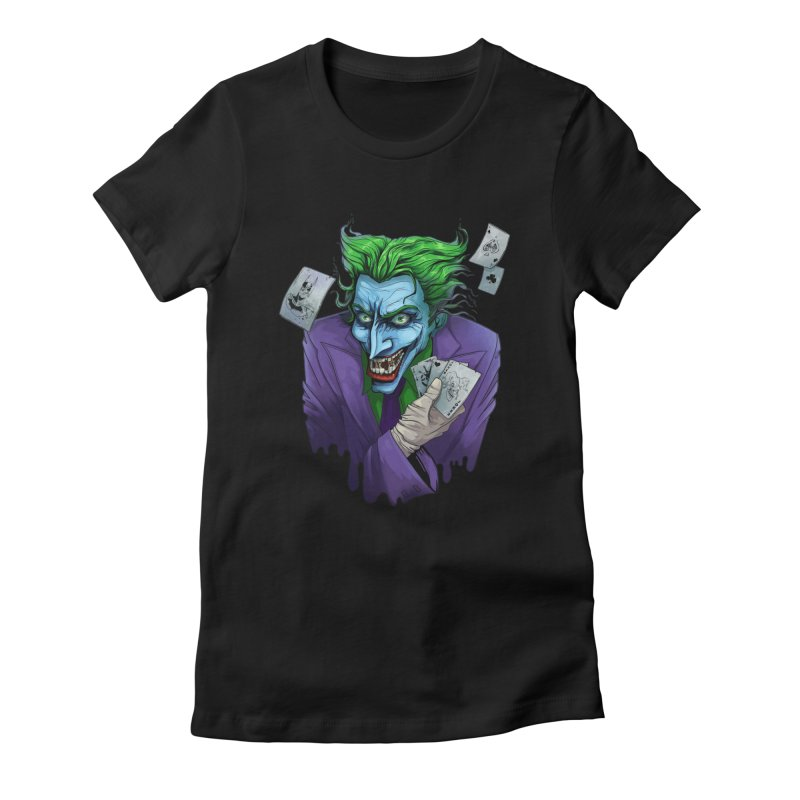 Joker Women's Fitted T-Shirt by Diana's Artist Shop