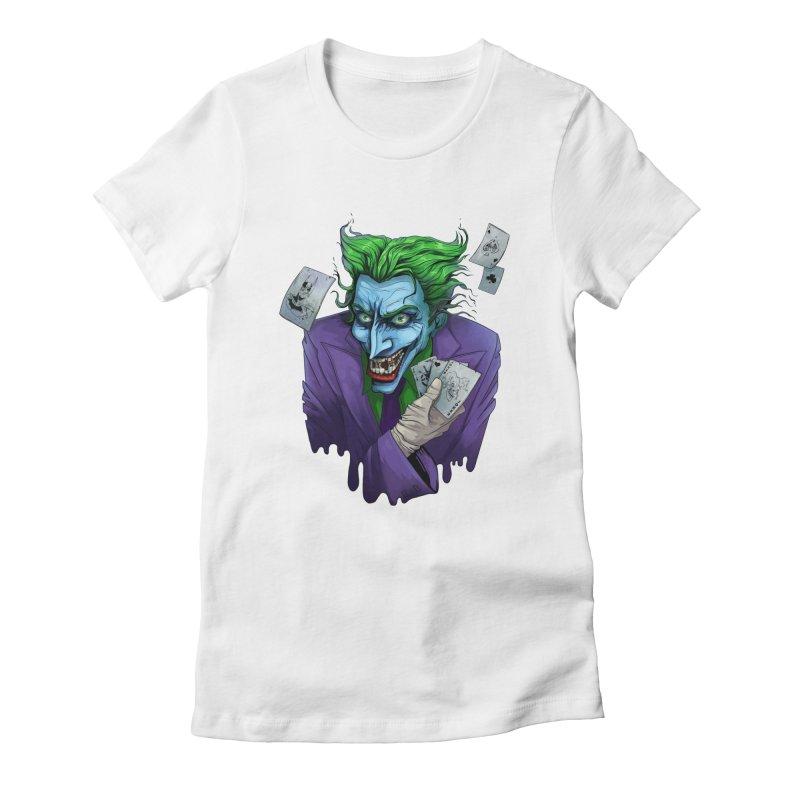 Joker Women's Fitted T-Shirt by Diana's Artist Shop