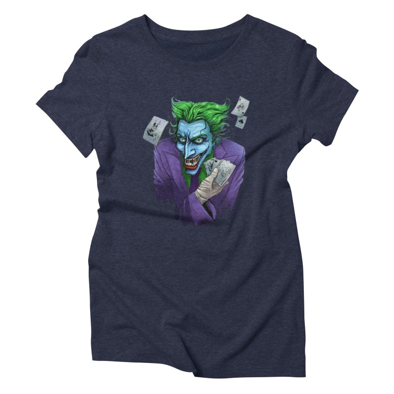 Joker Women's Triblend T-Shirt by Diana's Artist Shop