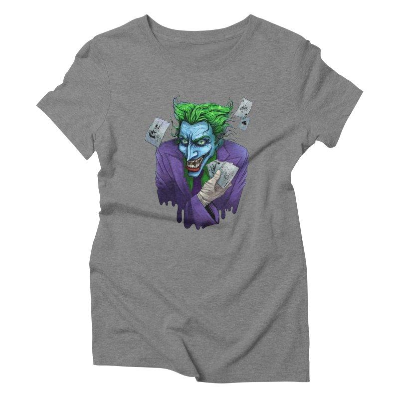 Joker Women's Triblend T-Shirt by Diana's Artist Shop