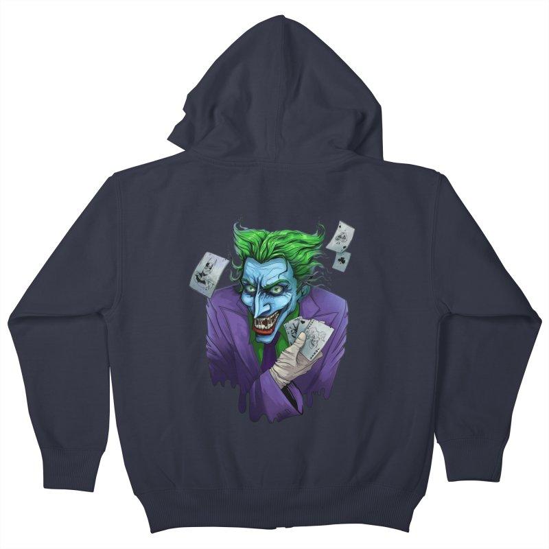 Joker Kids Zip-Up Hoody by Diana's Artist Shop