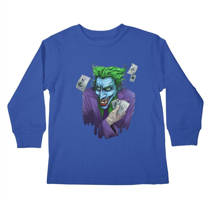 Joker Kids Longsleeve T-Shirt by Diana's Artist Shop