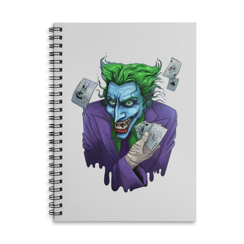 Joker Accessories Lined Spiral Notebook by Diana's Artist Shop