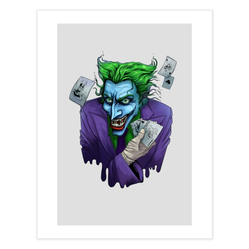 Joker Home Fine Art Print by Diana's Artist Shop