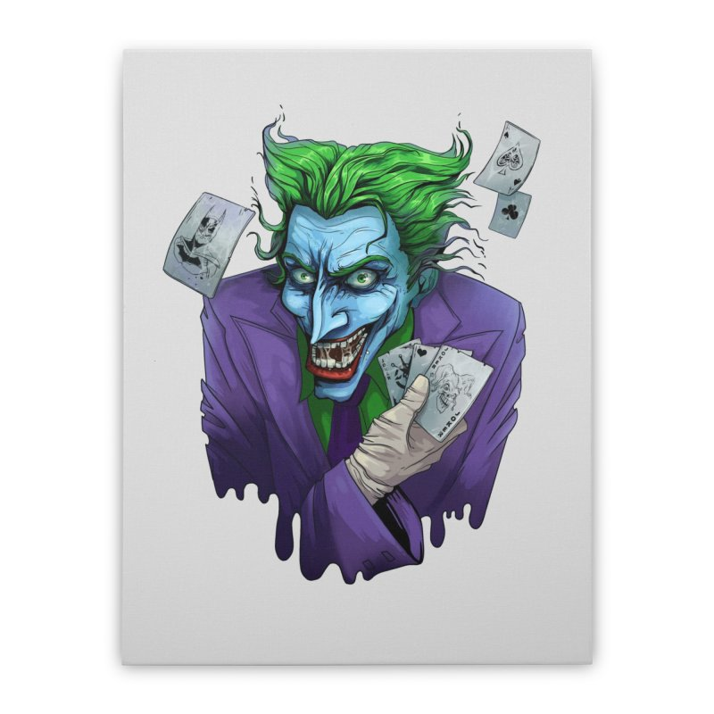 Joker Home Stretched Canvas by Diana's Artist Shop