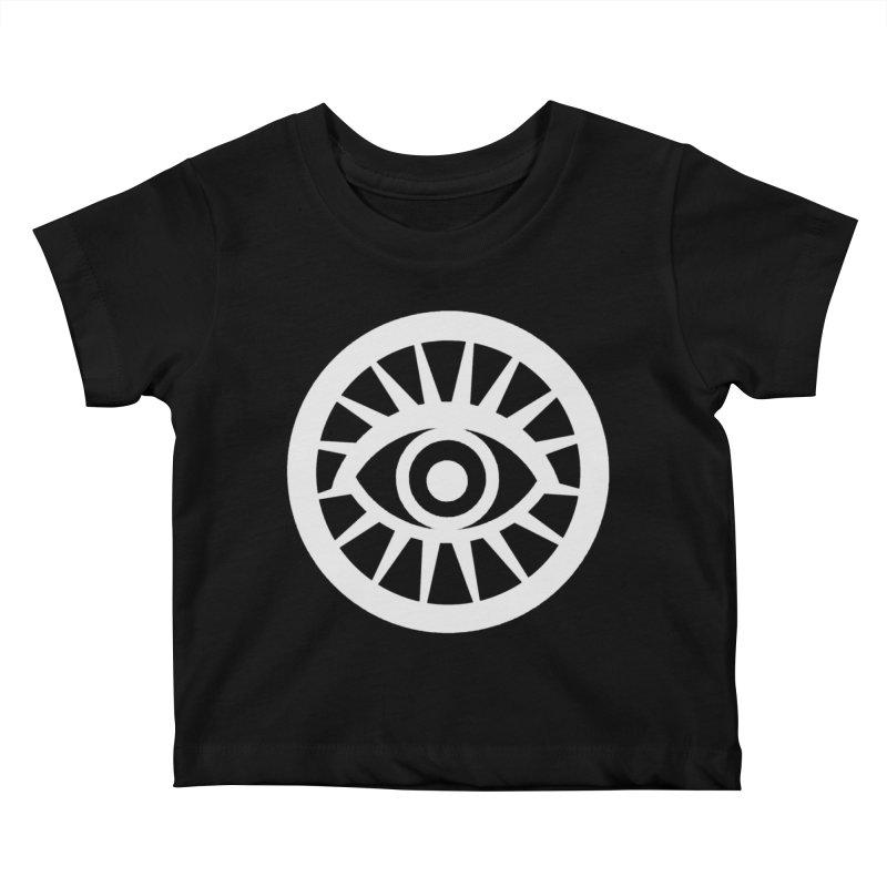 'HARPER' Eye Logo (White) Kids Baby T-Shirt by danburley's Artist Shop