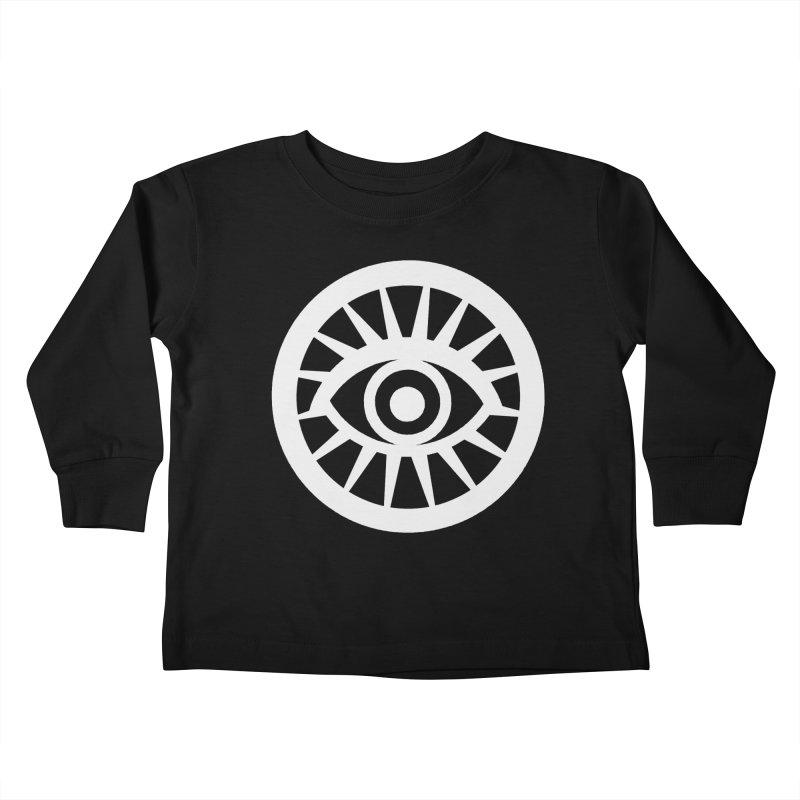 'HARPER' Eye Logo (White) Kids Toddler Longsleeve T-Shirt by danburley's Artist Shop