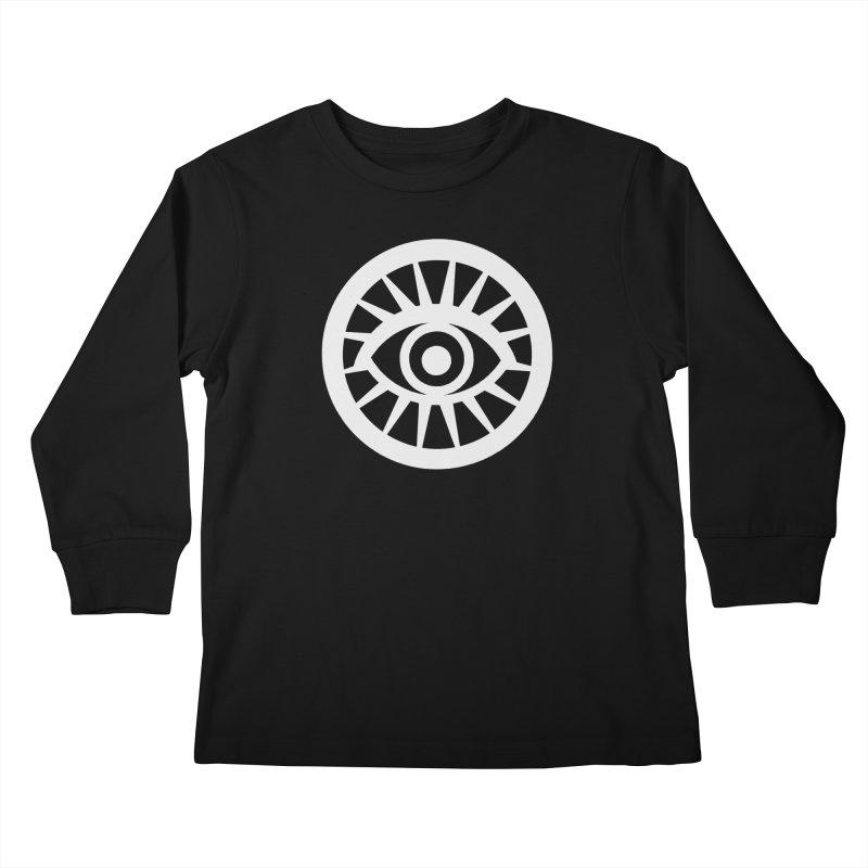 'HARPER' Eye Logo (White) Kids Longsleeve T-Shirt by danburley's Artist Shop