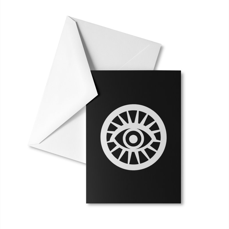 'HARPER' Eye Logo (White) Accessories Greeting Card by danburley's Artist Shop