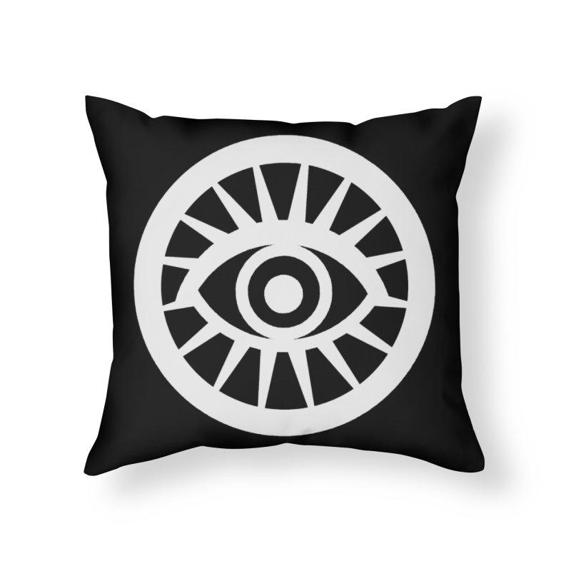 'HARPER' Eye Logo (White) Home Throw Pillow by danburley's Artist Shop