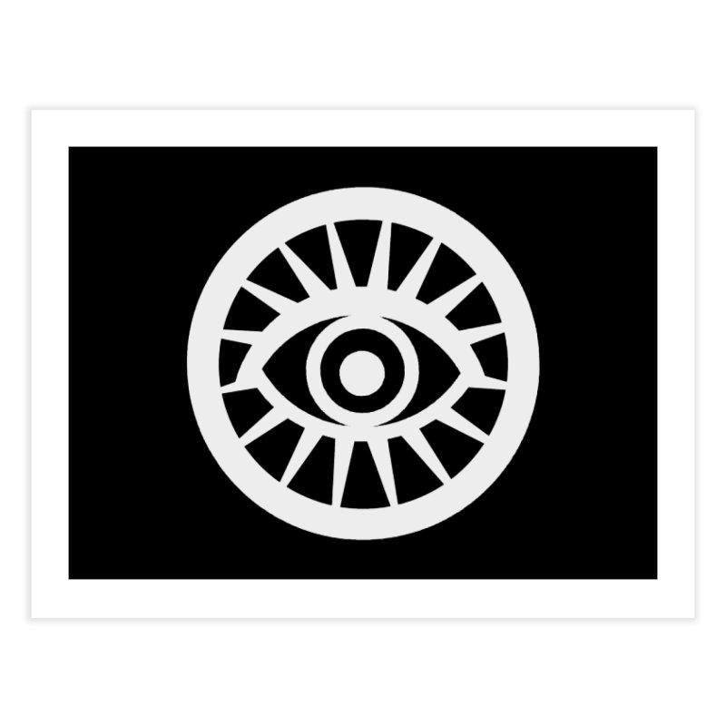 'HARPER' Eye Logo (White) Home Fine Art Print by danburley's Artist Shop