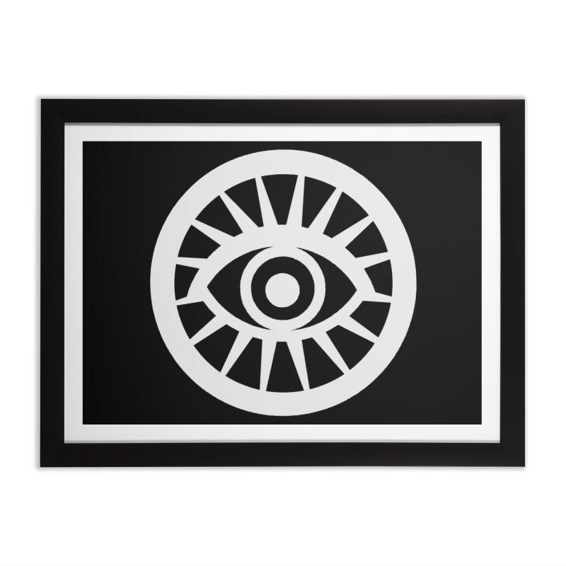 'HARPER' Eye Logo (White) Home Framed Fine Art Print by danburley's Artist Shop