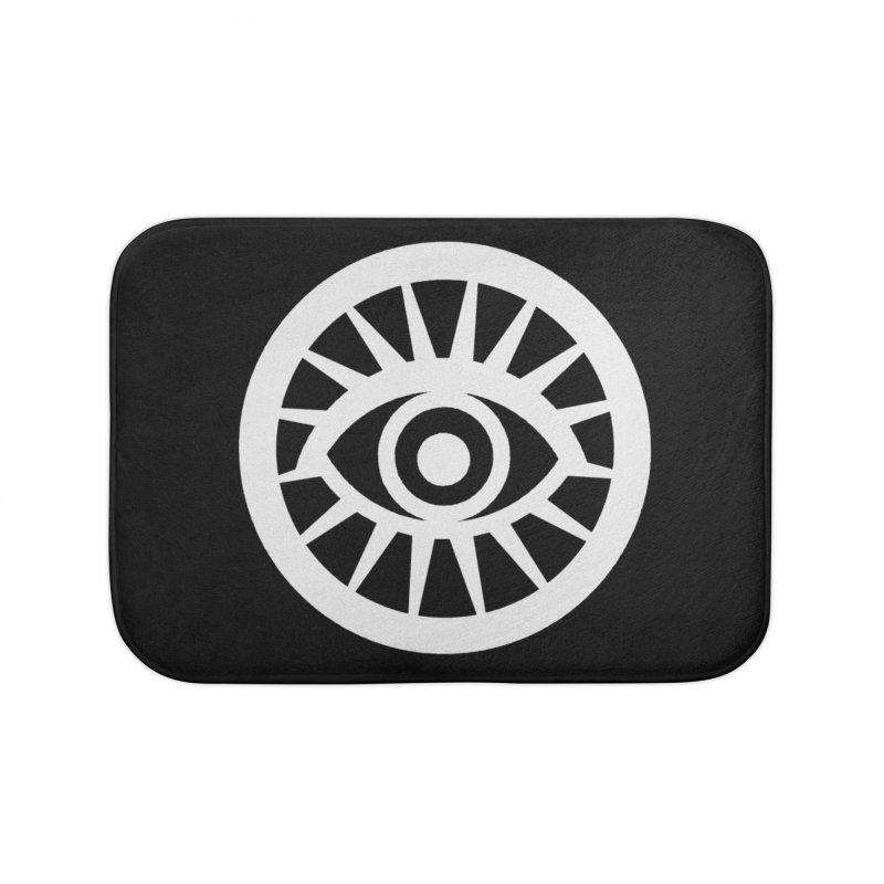 'HARPER' Eye Logo (White) Home Bath Mat by danburley's Artist Shop