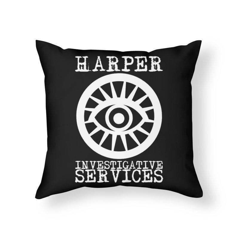 Harper Investigative Services (Dark) Home Throw Pillow by danburley's Artist Shop