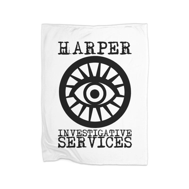 Harper Investigative Services (Light) Home Blanket by danburley's Artist Shop