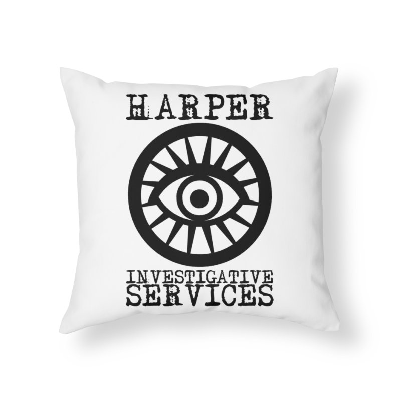 Harper Investigative Services (Light) Home Throw Pillow by danburley's Artist Shop