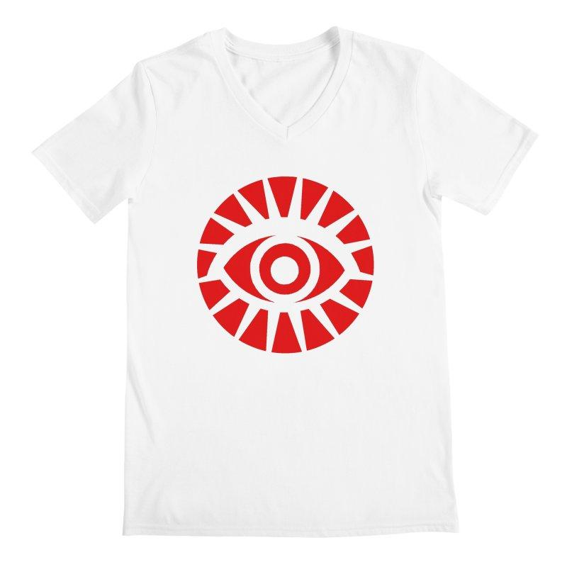 All-Seeing Eye (Red) Men's V-Neck by danburley's Artist Shop