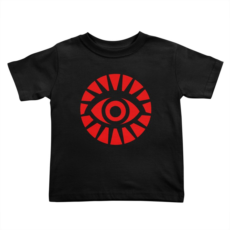 All-Seeing Eye (Red) Kids Toddler T-Shirt by danburley's Artist Shop