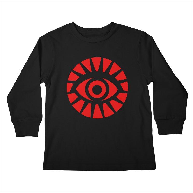 All-Seeing Eye (Red) Kids Longsleeve T-Shirt by danburley's Artist Shop