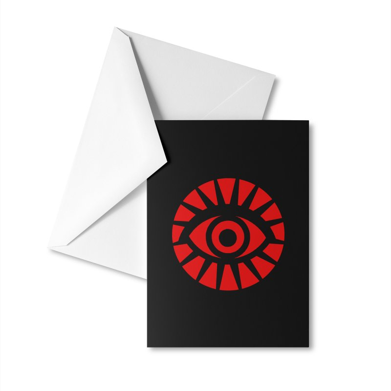 All-Seeing Eye (Red) Accessories Greeting Card by danburley's Artist Shop