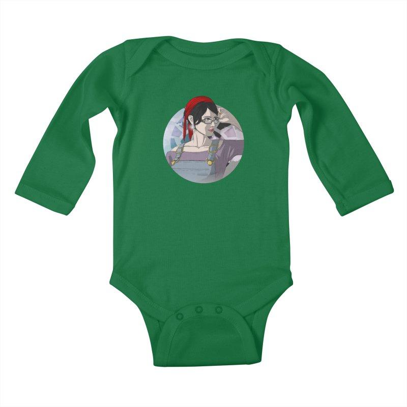Elizabeth Harper-Baxter Kids Baby Longsleeve Bodysuit by danburley's Artist Shop
