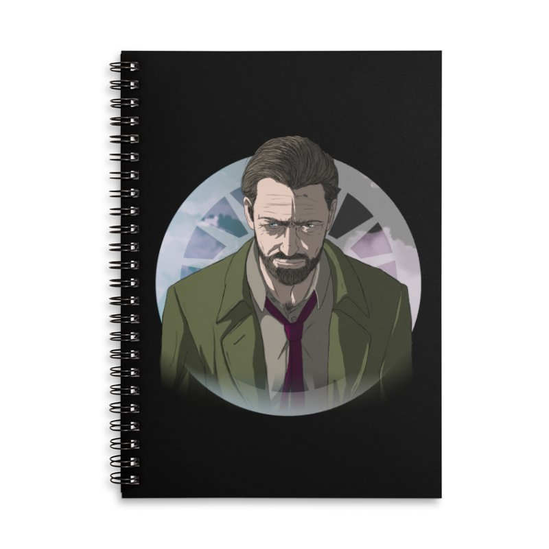 Reggie Harper Accessories Lined Spiral Notebook by danburley's Artist Shop