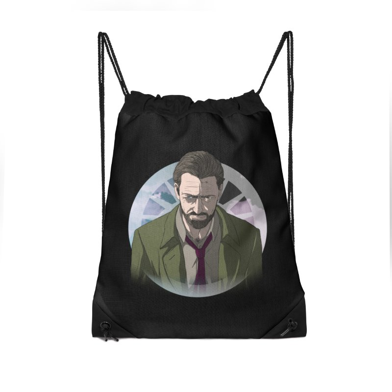 Reggie Harper Accessories Drawstring Bag Bag by danburley's Artist Shop