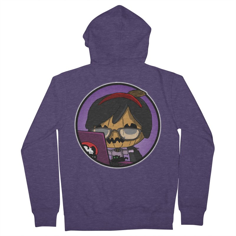 Halloweenie Men's French Terry Zip-Up Hoody by danburley's Artist Shop