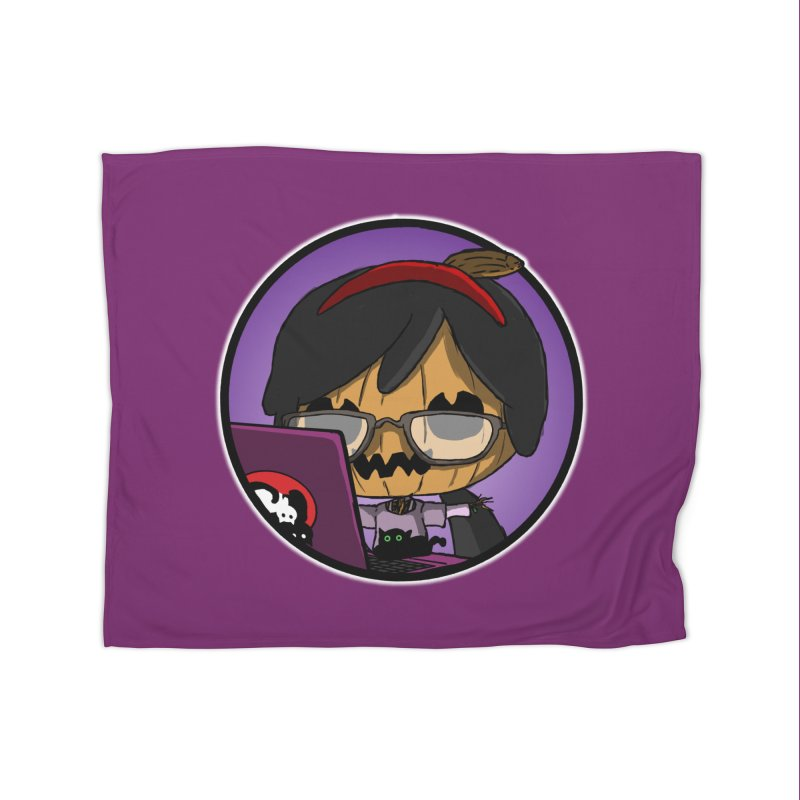Halloweenie Home Fleece Blanket Blanket by danburley's Artist Shop