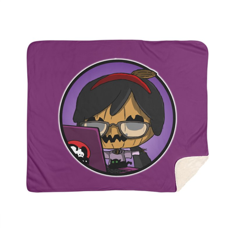 Halloweenie Home Sherpa Blanket Blanket by danburley's Artist Shop