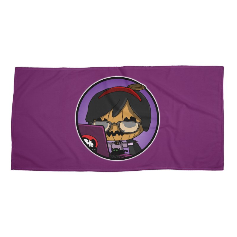 Halloweenie Accessories Beach Towel by danburley's Artist Shop